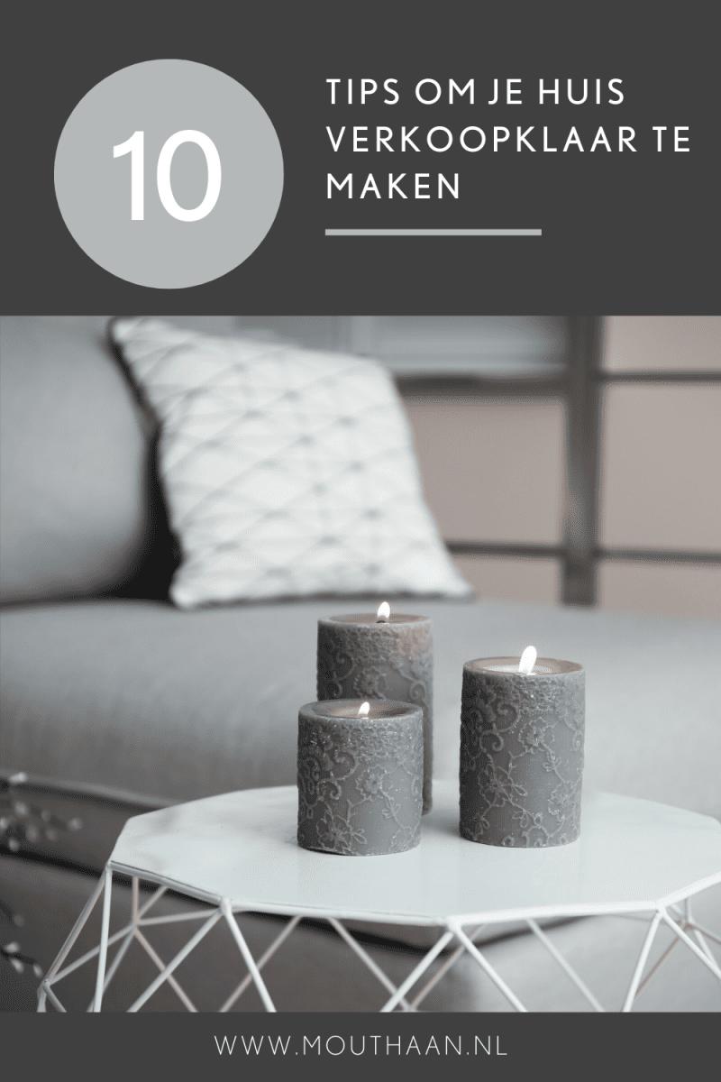 10 tips om je huis verkoopklaar te maken en te zorgen voor een goede eerste indruk.